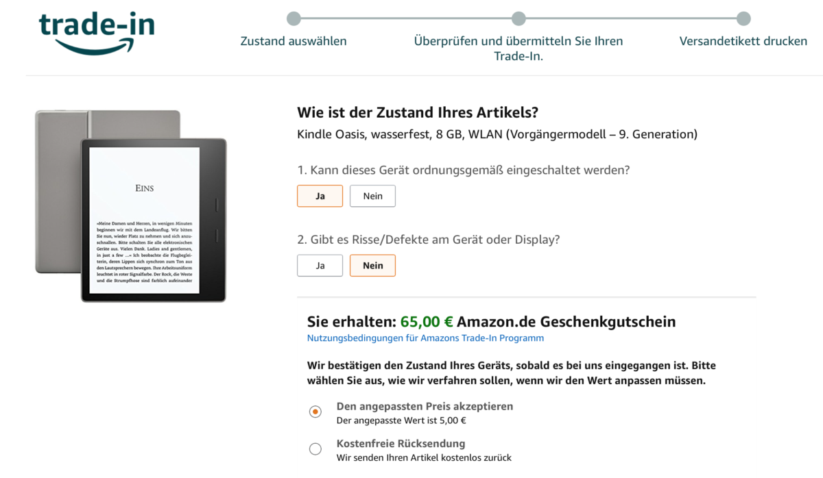 Amazon's Trade-In Programm mit dem Amazon Echo - Amazon Lautsprecher